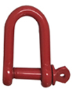 Red Epoxy Coated Steel Dee Shackles